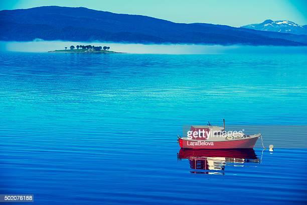 Bay in Ballangen, Nordland Country, Norway