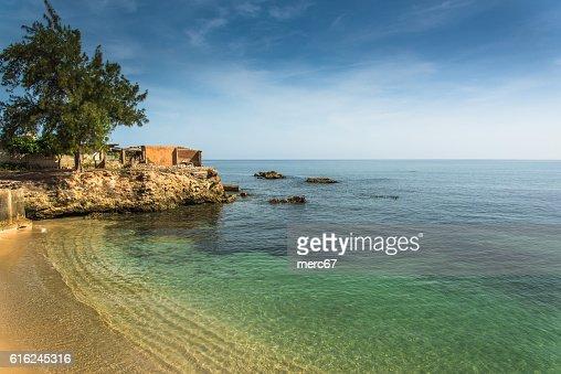 Bay in città coloniale di Gibara cubano : Foto stock