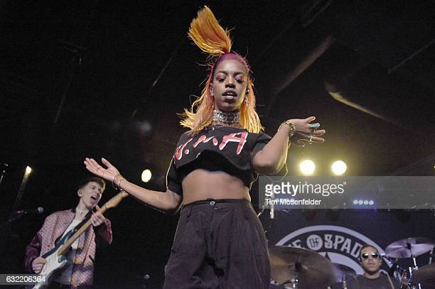 Bay Li of The Skins performs in support of the band's self titled release at Ace of Spades on January 19 2017 in Sacramento California