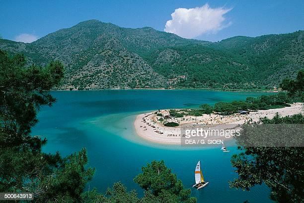 Bay of Fethiye in the Aegean sea Turkey