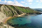 Bay of Gnejna Bay in Malta