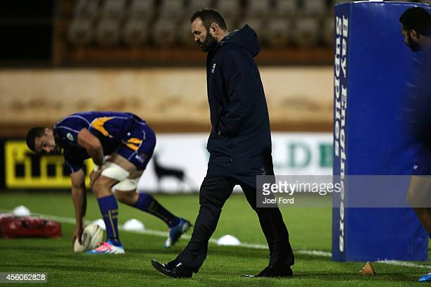 Bay of Plenty Steamers coach Kevin Schuler prior to during the ITM Cup match between Bay of Plenty and Northland on September 25 2014 in Mount...