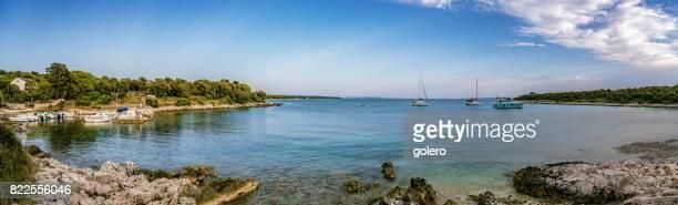 bay of Silba Croatia with resting boats