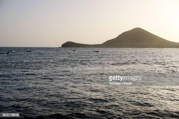 Bay of water in Isleta del Moro