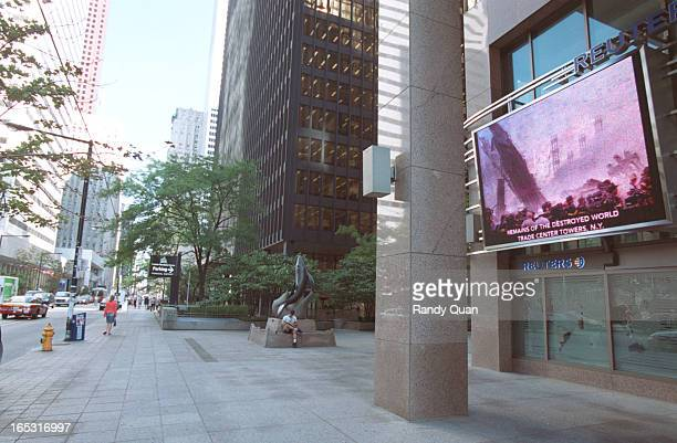 Bay Street in front of the Toronto Stock exchange is eerily quiet the day after the New York City terrorist attack
