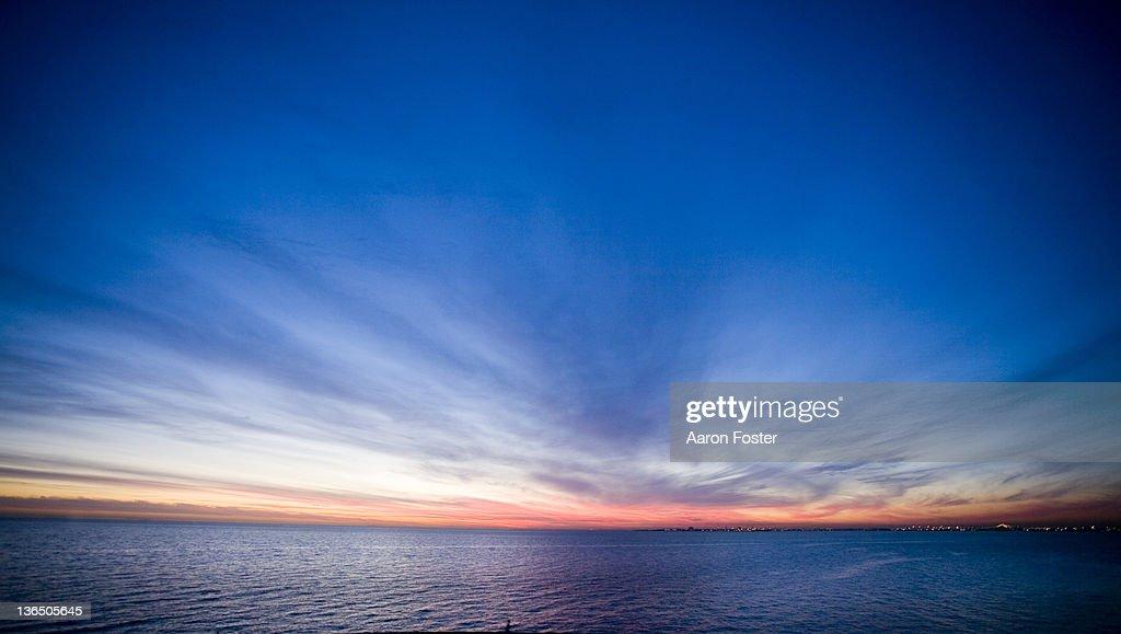 Bay Sun Set : Stock Photo