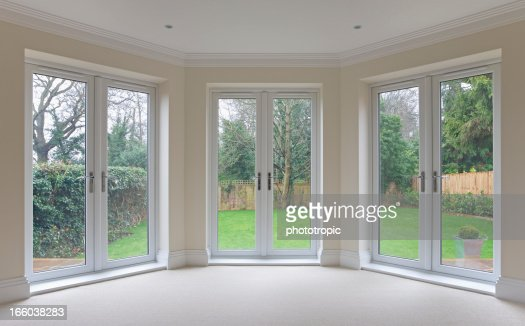 Bay Window Patio Doors Stock Photo Getty Images