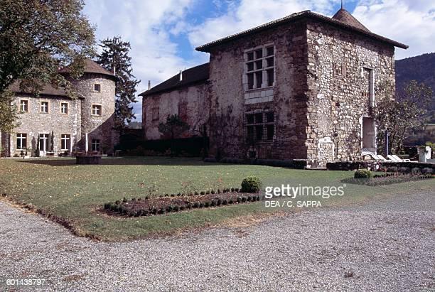 Bayard castle gardens Pontcharra RhoneAlpes France 15th century