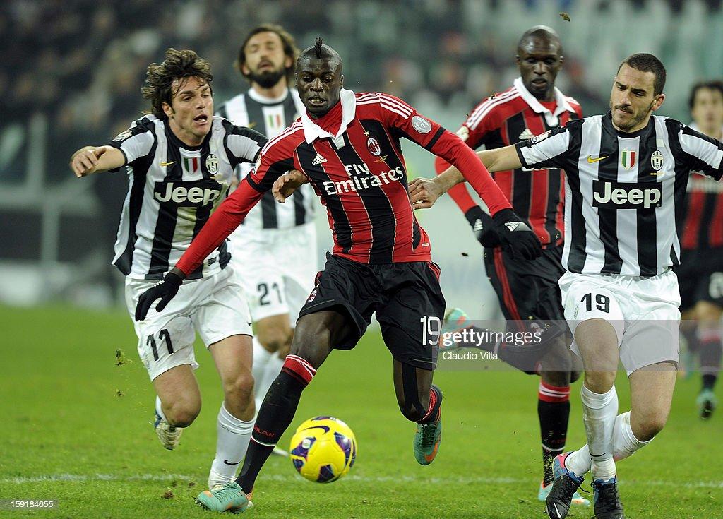 M'Baye Babacar Niang of AC Milan #19 during the TIM cup match between Juventus FC and AC Milan at Juventus Arena on January 9, 2013 in Turin, Italy.