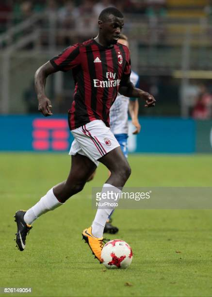 M'Baye Niang during the preliminaries of Europa League 2017/2018 match between Milan v Craiova in Milan on august 3 2017