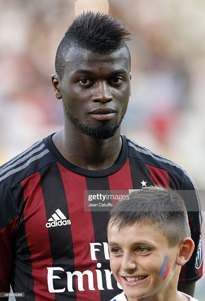 M'Baye Niang of AC Milan looks on before the friendly match between Olympique Lyonnais (OL) and AC Milan (Milan AC) at Stade de Gerland on July 18, 2015 in Lyon, France.