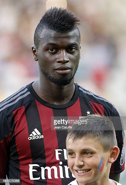 Baye Niang of AC Milan looks on before the friendly match between Olympique Lyonnais and AC Milan at Stade de Gerland on July 18 2015 in Lyon France