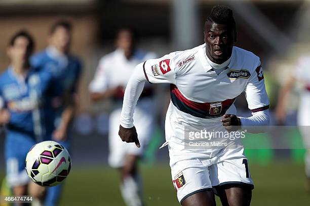 Baye Niang of Genoa CFC in action during the Serie A match between Empoli FC and Genoa CFC at Stadio Carlo Castellani on March 8 2015 in Empoli Italy