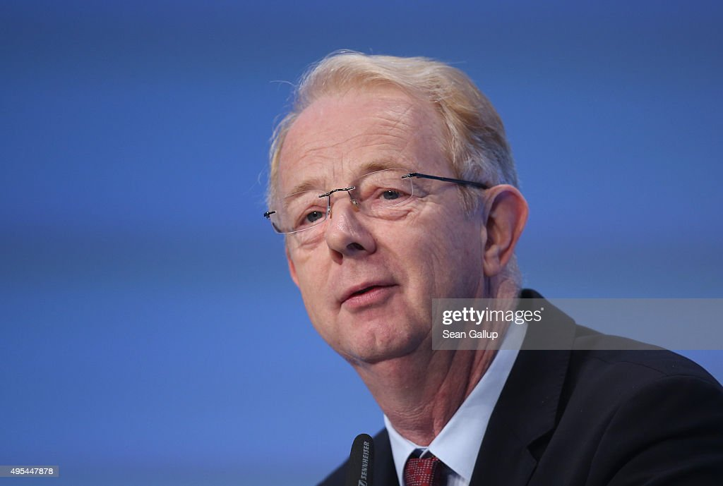 Bayer AG Chairman Marijn Dekkers speaks at the 'Day of German Indsutry' annual gathering on November 3, 2015 in Berlin, Germany. Hosted by the German Federation of Industry (BDI), the annual gathering brings together industrial leaders from across Germany as well as political leaders.