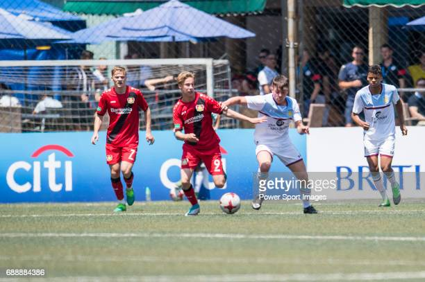 Bayer Leverkusen 's Julijan Popovic runs with the ball during their Main Tournament match part of the HKFC Citi Soccer Sevens 2017 on 27 May 2017 at...
