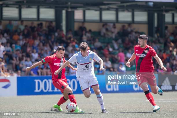 Bayer Leverkusen's Guven Yalcin runs with the ball during their Main Tournament match compete with Aston Villa part of the HKFC Citi Soccer Sevens...