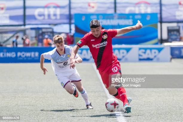 Bayer Leverkusen's Guven Yalcin runs with the ball during their Main Tournament match part of the HKFC Citi Soccer Sevens 2017 on 27 May 2017 at the...
