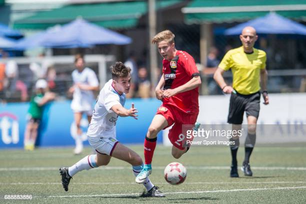 Bayer Leverkusen's Julijan Popovic runs with the ball during their Main Tournament match part of the HKFC Citi Soccer Sevens 2017 on 27 May 2017 at...