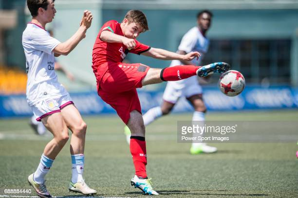 Bayer Leverkusen's Mitch Clark kicks the ball during their Main Tournament match with Aston Villa part of the HKFC Citi Soccer Sevens 2017 on 27 May...