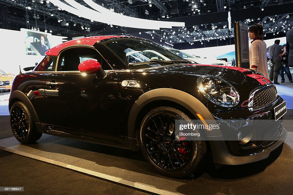 A Bayerische Motoren Werke AG (BMW) Mini John Cooper is displayed during the LA Auto Show in Los Angeles, California, U.S., on Thursday, Nov. 21, 2013. The 2013 LA Auto Show is open to the public Nov. 22 - Dec. 1. Photographer: Jonathan Alcorn/Bloomberg via Getty Images