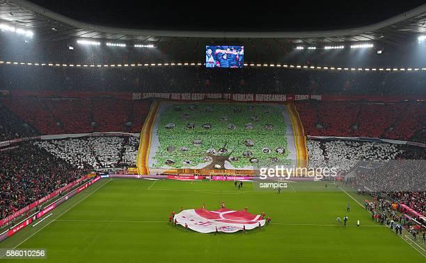 FC Bayern München Muenchen 1 FC Köln Koeln Südkurve Bayern Fans mit der Choreographie zum 115 Geburtstag 1 Fussball Bundesliga Saison 2014 / 2015