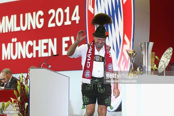 Bayern Muenchen member Matthaeus Hammerl speaks during the FC Bayern Muenchen annual general meeting at Audi Dome on November 28 2014 in Munich...