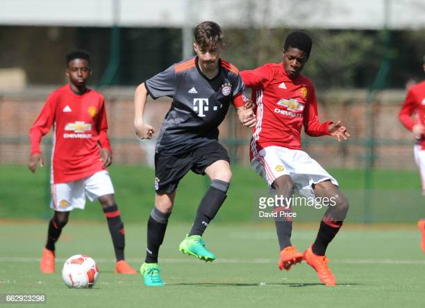 Bayern Munich and Manchester United in the Liam Brady Cup on April 1st 2017 in Walthamstow England