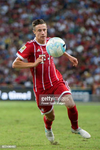 Bayern Munich Defender Marco Friedl during the International Champions Cup match between Chelsea FC and FC Bayern Munich at National Stadium on July...
