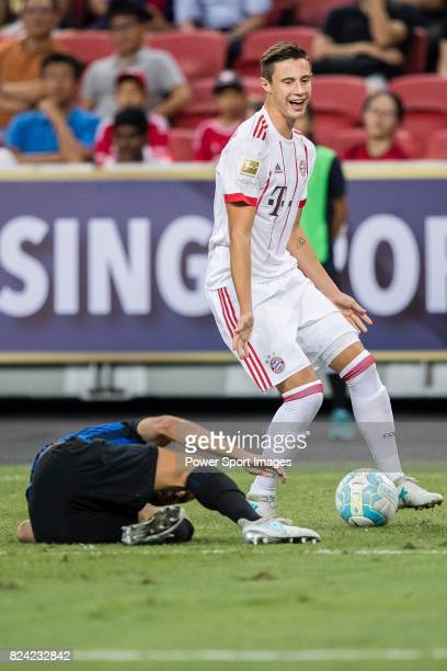 Bayern Munich Defender Marco Friedl fights for the ball with FC Internazionale Defender Yuto Nagatomo during the International Champions Cup match...