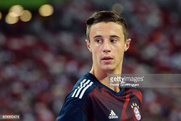 Bayern Munich Defender Marco Friedl Warming up during the International Champions Cup match between FC Bayern and FC Internazionale at National...