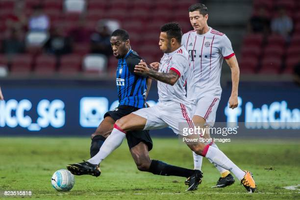 Bayern Munich Midfielder Corentin Tolisso fights for the ball with FC Internazionale Midfielder Geoffrey Kondogbia during the International Champions...