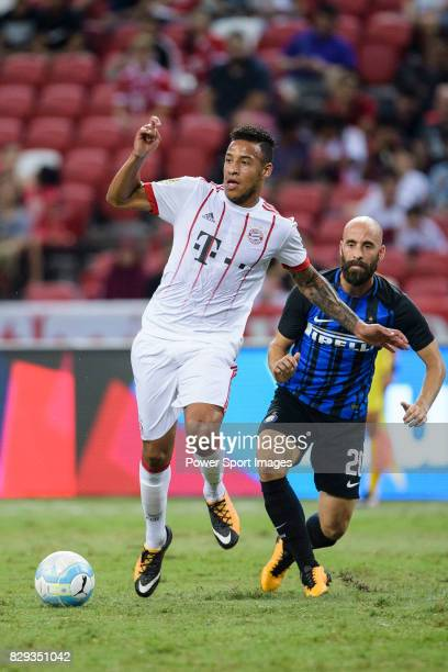 Bayern Munich Midfielder Corentin Tolisso in action during the International Champions Cup match between FC Bayern and FC Internazionale at National...