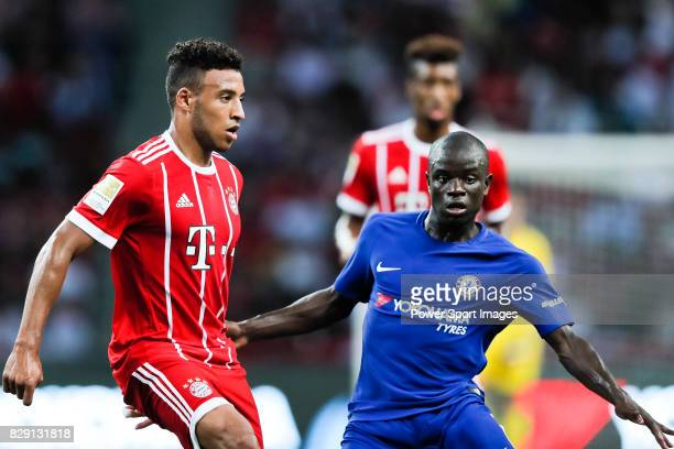 Bayern Munich Midfielder Corentin Tolisso plays against Chelsea Midfielder N'Golo Kante during the International Champions Cup match between Chelsea...