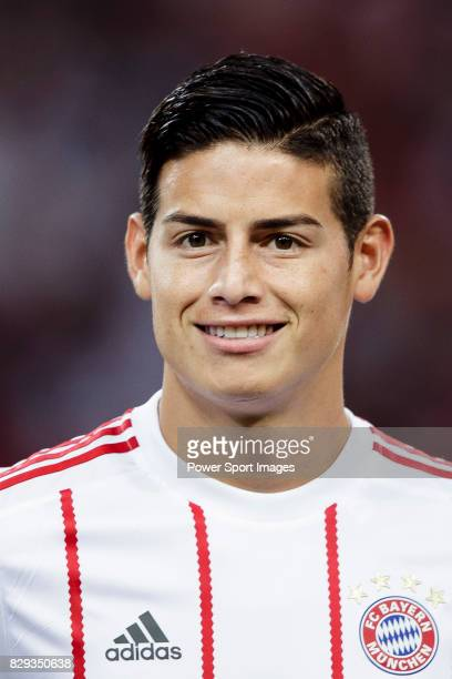 Bayern Munich Midfielder James Rodríguez getting into the field during the International Champions Cup match between FC Bayern and FC Internazionale...