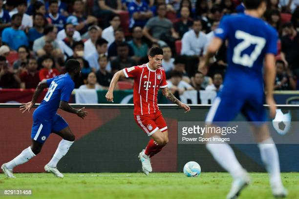 Bayern Munich Midfielder James Rodríguez in action during the International Champions Cup match between Chelsea FC and FC Bayern Munich at National...