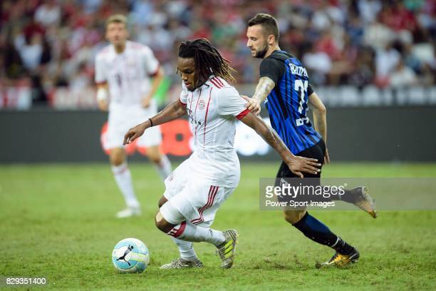Bayern Munich Midfielder Renato Sanches fights for the ball with FC Internazionale Midfielder Marcelo Brozovic during the International Champions Cup...