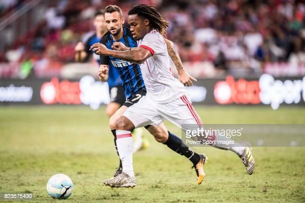 Bayern Munich Midfielder Renato Sanches plays against FC Internazionale Midfielder Marcelo Brozovic during the International Champions Cup match...