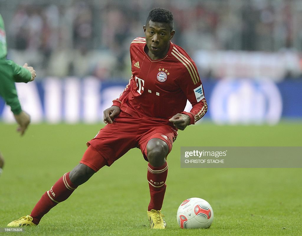 Bayern Munich's Austrain midfielder David Alaba plays during the German first division Bundesliga football match FC Bayern Munich vs Greuther Fuerth in Munich, southern Germany, on January 19, 2013.