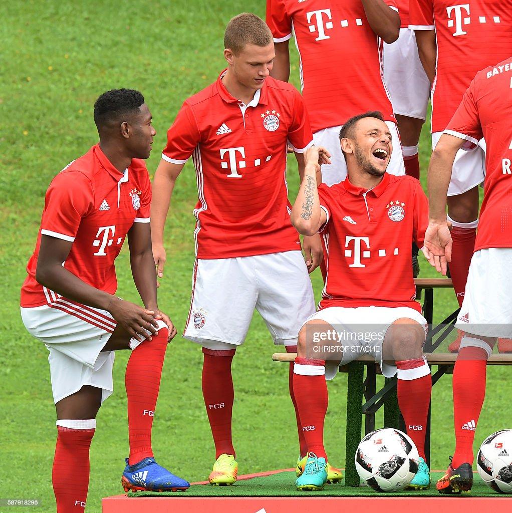 Bayern Munich s Austrian defender David Alaba Bayern Munich s