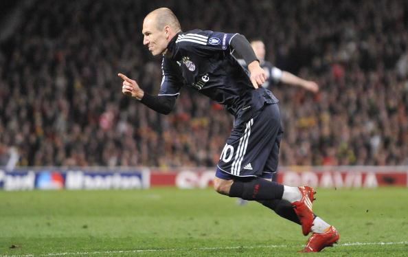 Bayern Munich's Dutch striker Arjen Robb : News Photo