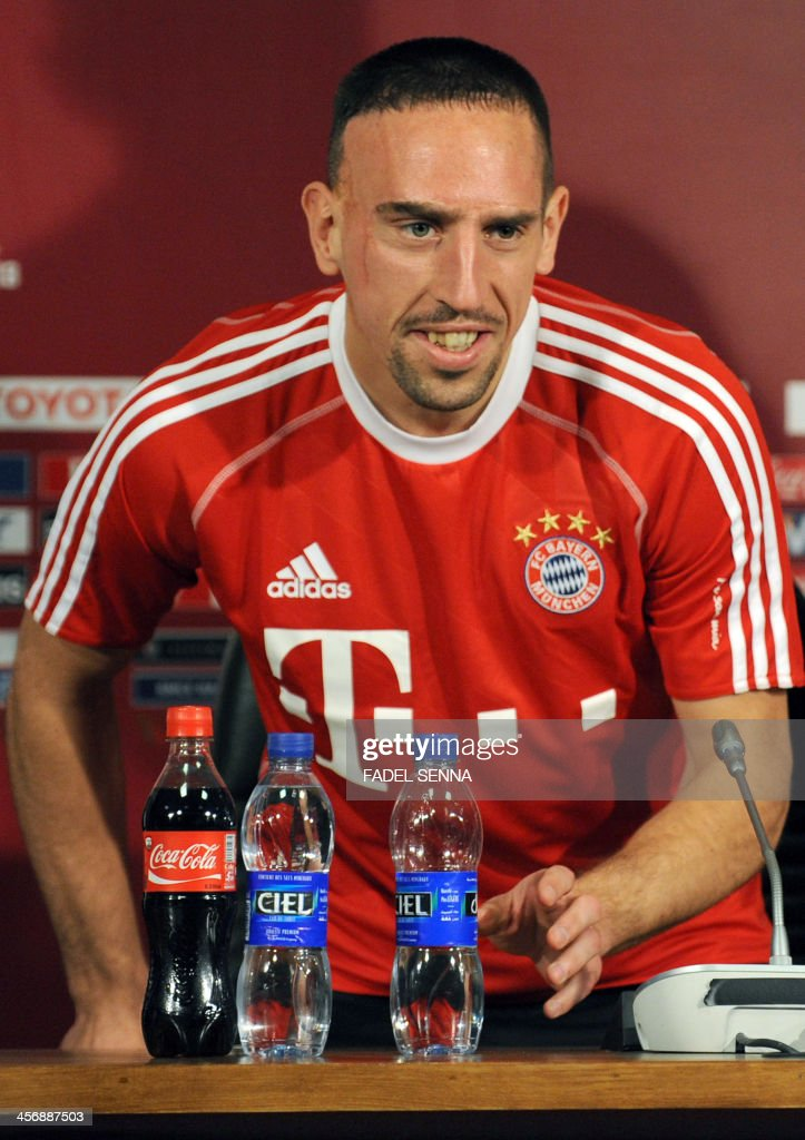 Bayern Munich's French midfielder, Franck Ribery give a press conference at the FIFA Club World Cup in the coastal Moroccan city of Agadir on December 15, 2013. The regional champions from each of the FIFA regions are gathering in the north African country of Morocco to decide which is the best domestic team in the world. Bayern Munich will play China's Guangzhou Evergrande. AFP PHOTO / FADEL SENNA