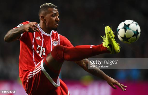 Bayern Munich's German defender Jerome Boateng controls the ball during the UEFA Champions League Group B football match between Celtic and Bayern...