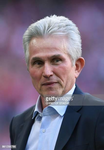 Bayern Munich's head coach Jupp Heynckes is pictured prior to the German First division Bundesliga football match FC Bayern Munich vs SC Freiburg in...