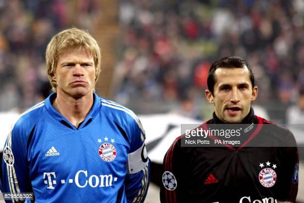 Bayern Munich's Oliver Kahn and Hasan Salihamidzic