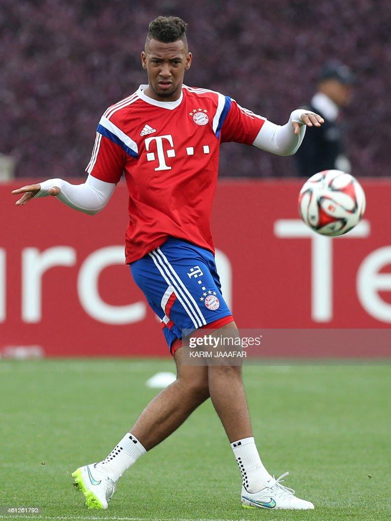 Bayern Munich s player Jerome Boateng takes part in a football
