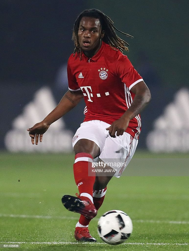 Bayern Munich s Renato Sanches controls the ball during his