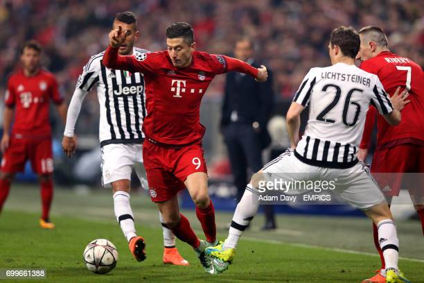Bayern Munich's Robert Lewandowski in action