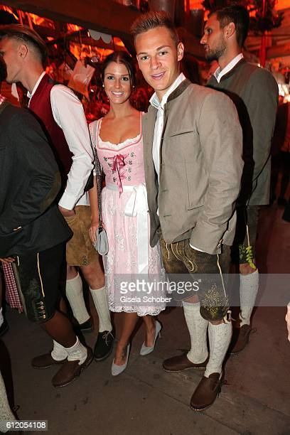 Bayern Soccer player Joshua Kimmich and his girlfriend Lina Meyer attend the 'FC Bayern Wies'n' during the Oktoberfest at Kaeferschaenke /...