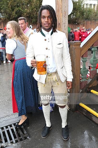 Bayern Soccer player Renato Sanches attend the 'FC Bayern Wies'n' during the Oktoberfest at Kaeferschaenke / Theresienwiese on October 2 2016 in...