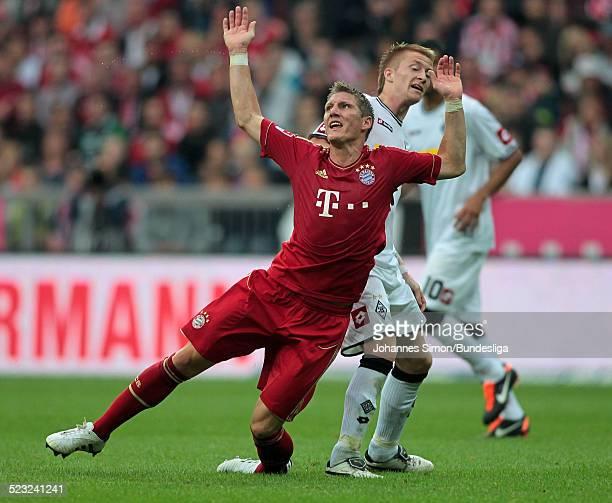 BayernSpieler Bastian Schweinsteiger im Einsatz beim Bundesliga Spiel zwischen dem FC Bayern Muenchen und Borussia Moenchengladbach am in der...